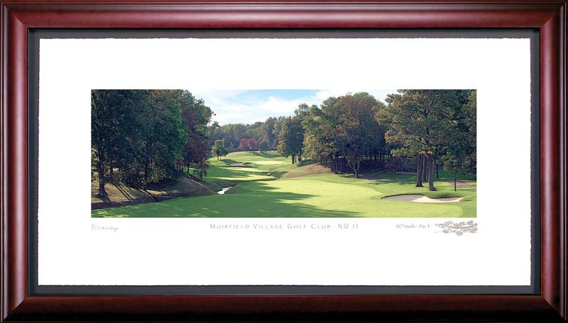 Muirfield Village 11th Hole Framed Golf Art Print