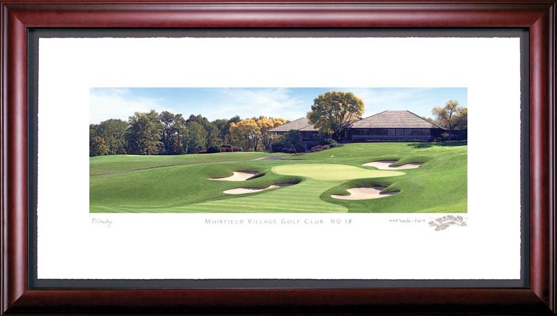 Muirfield Village 18th Hole Framed Golf Art Print