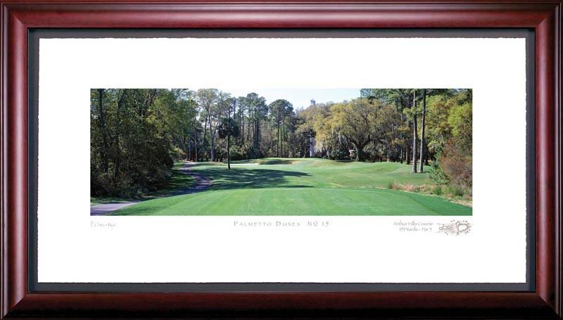 Palmetto Dunes 15th Hole Framed Golf Art Print