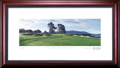 Pebble Beach 4th Hole Golf Photo Framed Picture