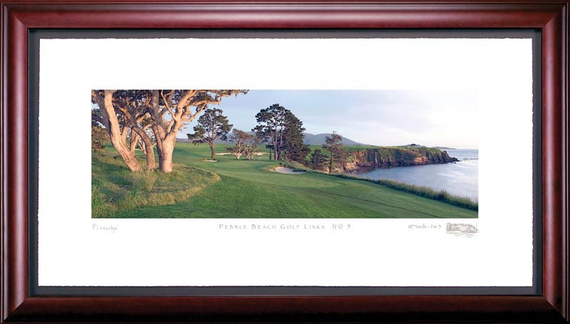Pebble Beach 5th Hole Golf Photo Framed Picture