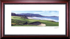 Pebble Beach 9th Hole Golf Photo Framed Picture
