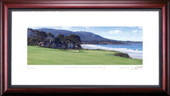 Pebble Beach 10th Hole Framed Golf Art Print
