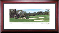 Pebble Beach 16th Hole Framed Golf Art Print