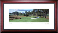 Pinehurst Course 8 14th Hole Framed Golf Art Print