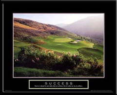 Success Inspirational Golf Art Framed Poster