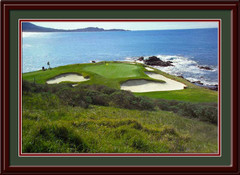 Pebble Beach 7th Green Framed Golf Photo