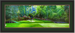 Augusta 12th Hole Panoramic Framed Golf Art