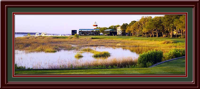 Harbour Town 18th Hole Panoramic Framed Photo Com