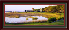 Harbour Town 18th Hole Panoramic Framed Photo