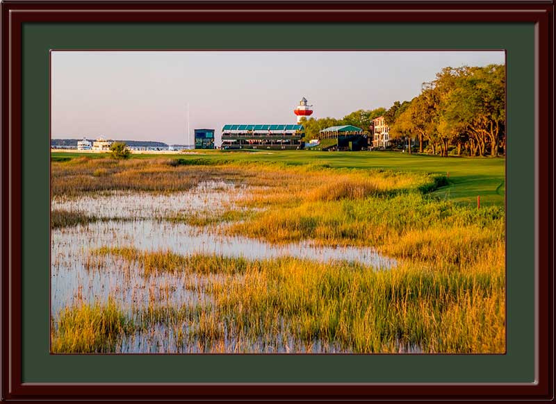 Harbour Town 18th Hole Framed Golf Photo