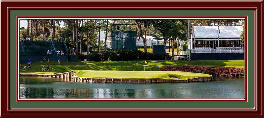 TPC Sawgrass Panoramic Framed Golf Photo