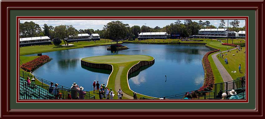 Sawgrass 17th Hole Panoramic Framed Golf Photo