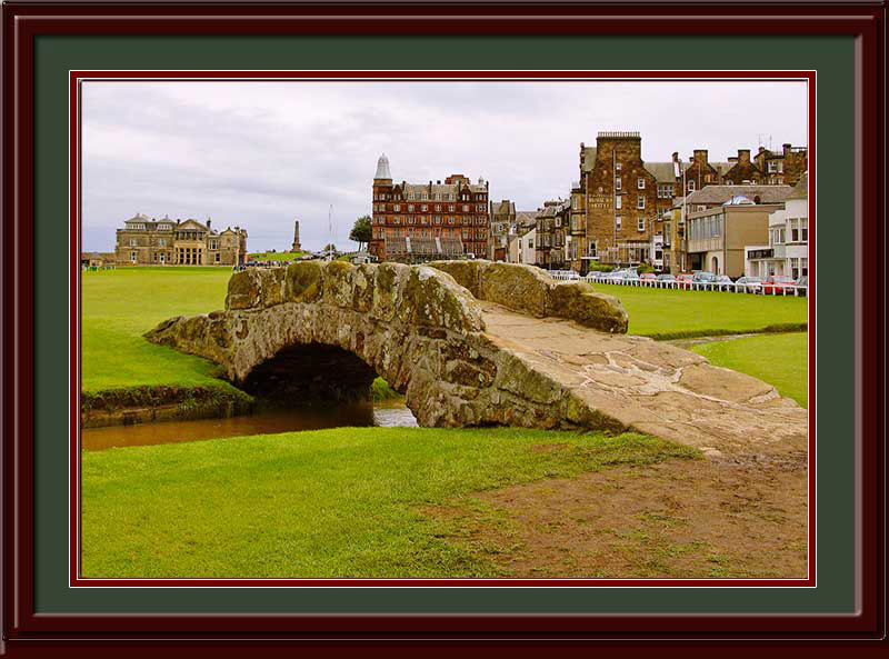 St Andrews Swilken Bridge Framed Golf Photo