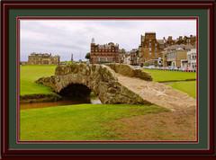 St. Andrews Swilken Bridge Framed Golf Photo