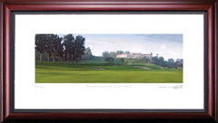 Riviera Country Club 9th Hole Framed Golf Art Print