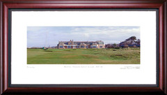 Royal Troon Golf Club 18th Hole Framed Golf Art Print