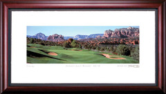 Sedona 10th Hole Framed Golf Art Print