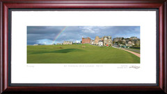 St. Andrews 17th Hole Rainbow Golf Photo Framed Picture