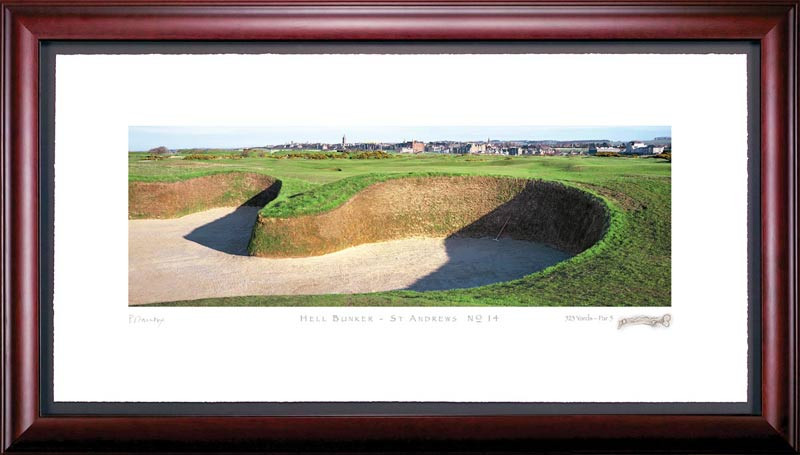 St. Andrews Hell Bunker 14th Hole Photo Framed Picture