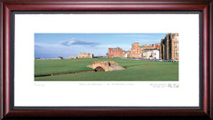 St. Andrews Swilken Bridge Framed Golf Art Print