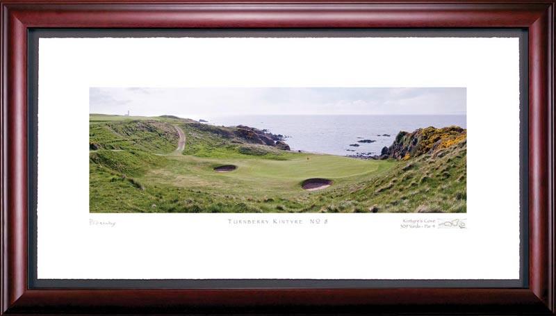 Turnberry Kintyre 8th Hole Framed Golf Art Print