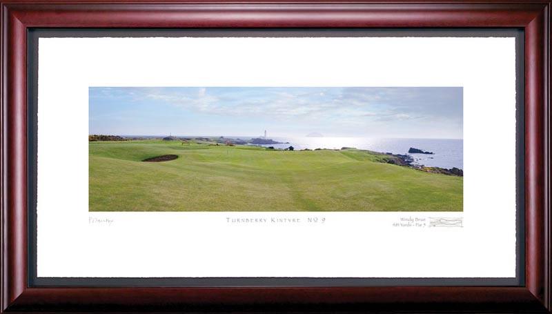 Turnberry Kintyre 9th Hole Framed Golf Art Print