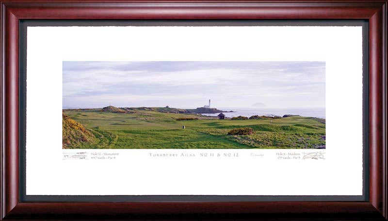Turnberry Ailsa 11th and 12th Hole Framed Golf Art Print