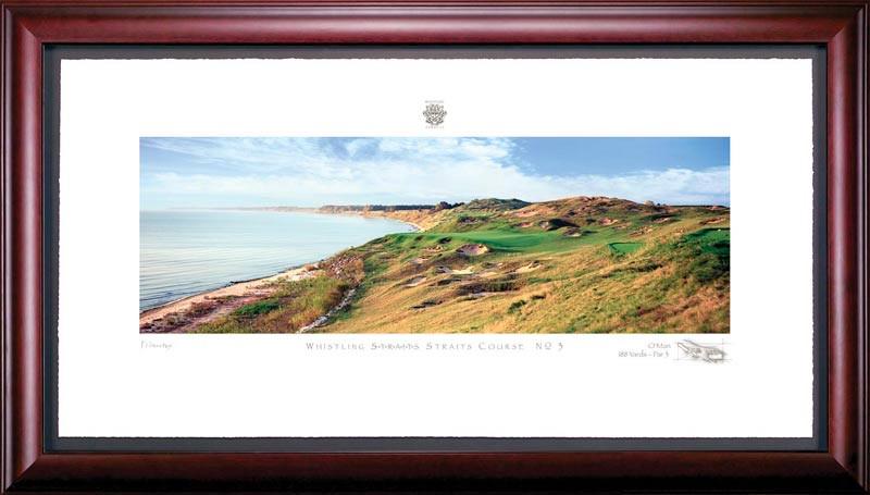 Whistling Straits 3rd Hole Framed Golf Art Print