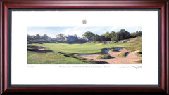 Whistling Straits 9th Hole Framed Golf Art Print