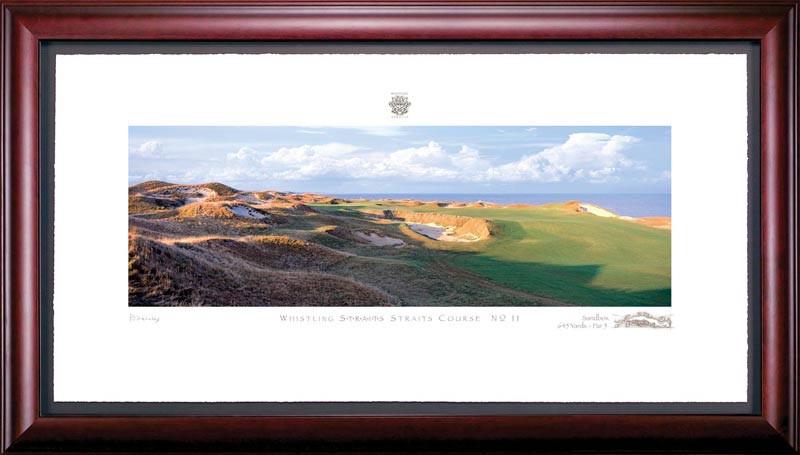 Whistling Straits 11th Hole Framed Golf Art Print