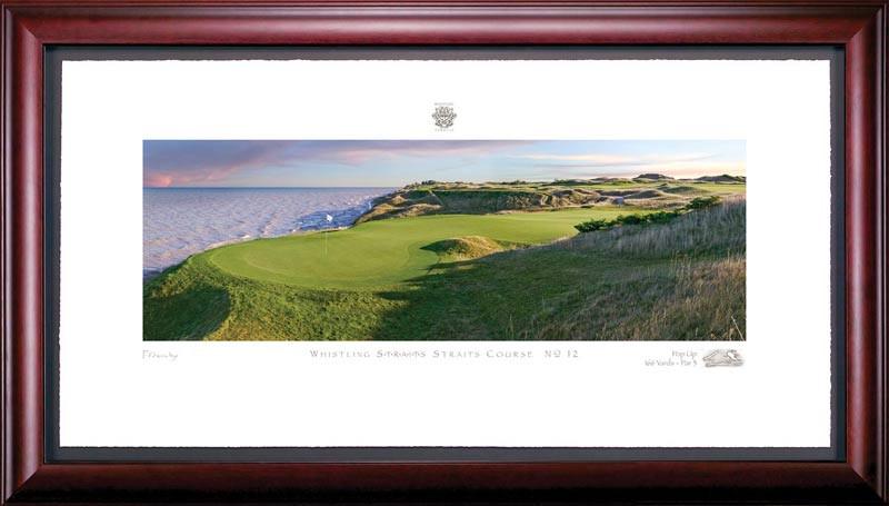 Whistling Straits 12th Hole Framed Golf Art Print