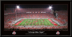 "Ohio State ""A Script Ohio Night"" Framed Poster"