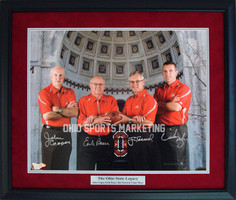 Ohio State Coaches Legacy Autographed Framed Photo