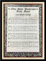 Carmen Ohio Lyrics Ohio State Framed Poster
