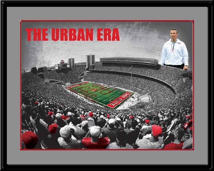 Urban Meyer Poster Ohio State The Urban Era Framed Print
