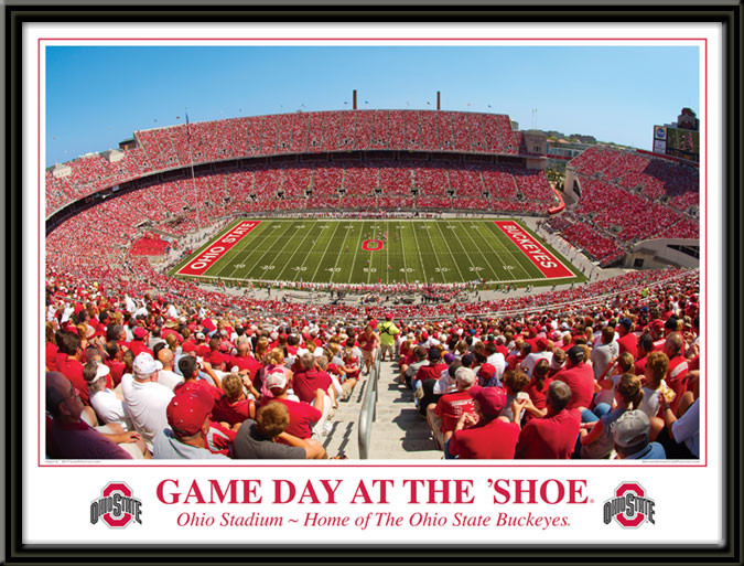 Ohio State Gameday at the Shoe print