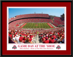 Game Day at the Shoe Framed Ohio Stadium Print