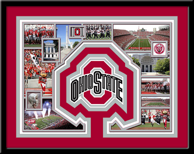Ohio State Buckeyes Memories Collage Framed