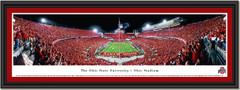 Ohio Stadium Scarlet Out Football Game Framed Poster
