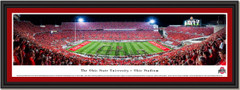 Script Ohio Football Stadium Panoramic Framed Picture