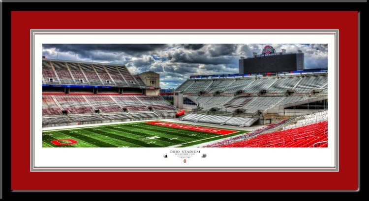 Ohio Stadium Est. October 7, 1922 Framed Picture red mat