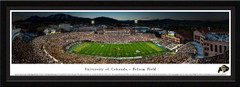 Colorado Folsom Field Framed Football Poster