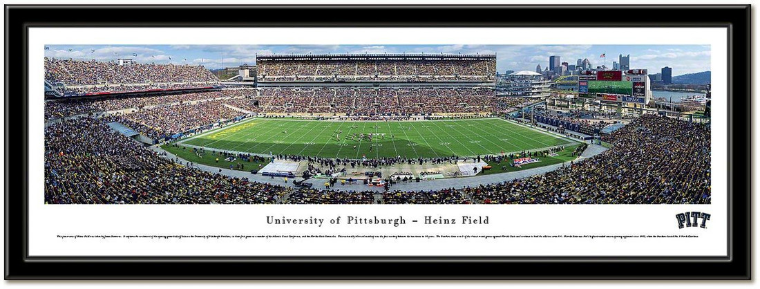 Pittsburgh Panthers Pitt Stadium Framed Poster