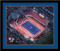 "Boise State Bronco Stadium ""The Blue"" Aerial Framed Picture"