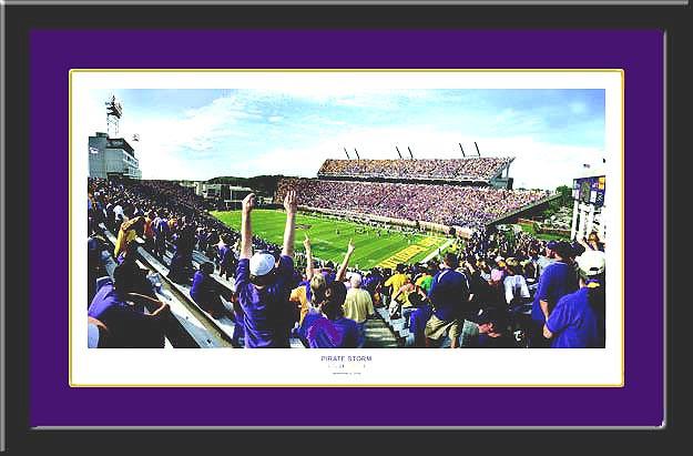 ecu dowdy ficklen stadium framed picture pirate storm - Ecu Diploma Frame