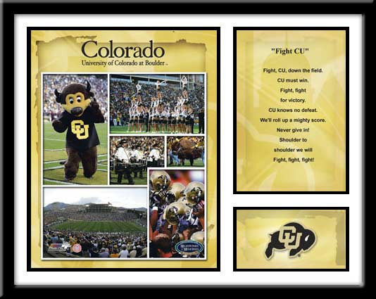 Colorado Football Memories and Milestones Framed Picture