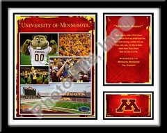 Minnesota Gophers Memories and Milestones Framed Picture