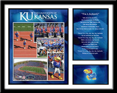 Kansas Jayhawk Football Memories and Milestones Framed Picture