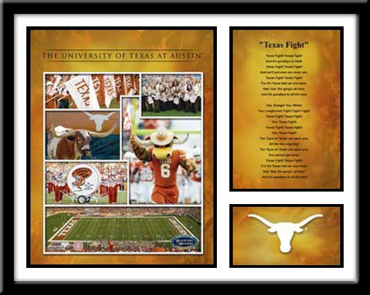 Texas Longhorns Football Memories and Milestones Framed Picture